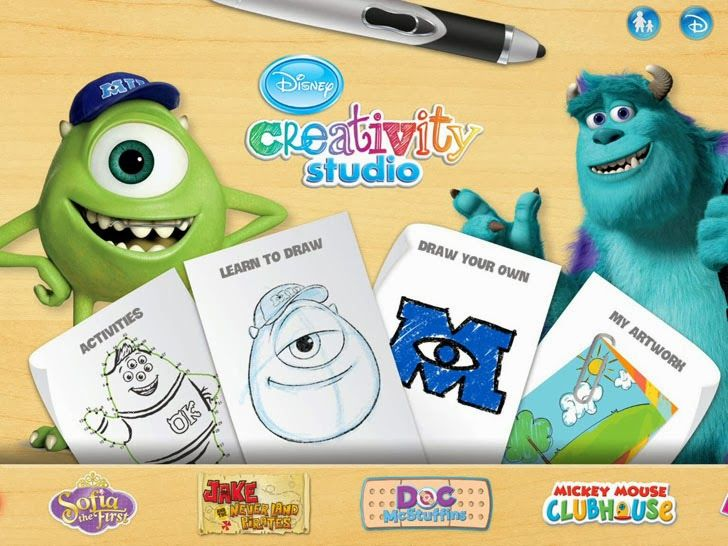 Disney Creativity Studio App by Disney. Art apps.