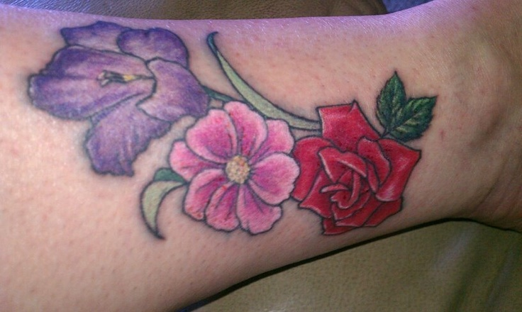 My first tattoo august october and june birth flowers for Birth flower october tattoo