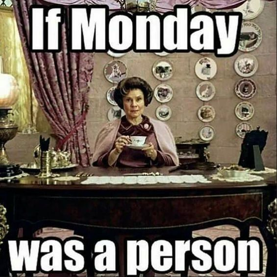 If Monday Was A Person Harry Potter Memes Hilarious Harry Potter Jokes Harry Potter Funny