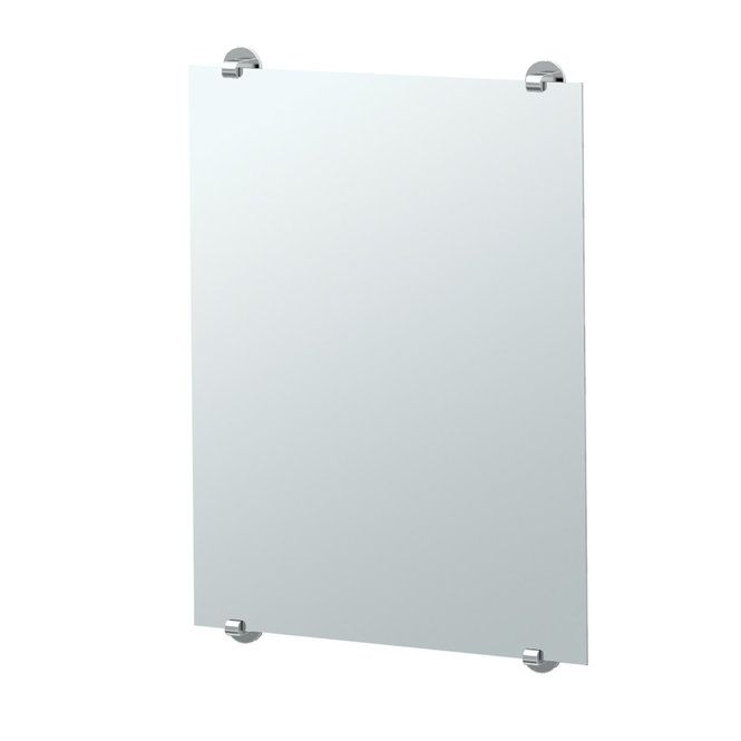 Minimalist Frameless Rectangular Mirror chrome