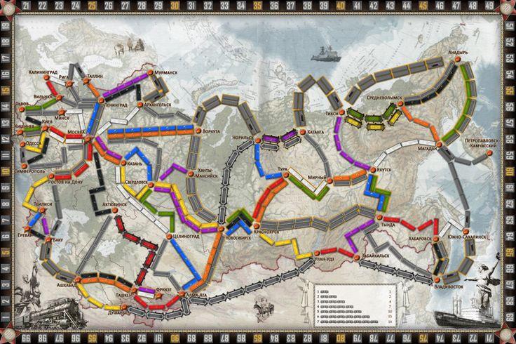 настольная игра Билет на поезд СССР скачать и распечатать