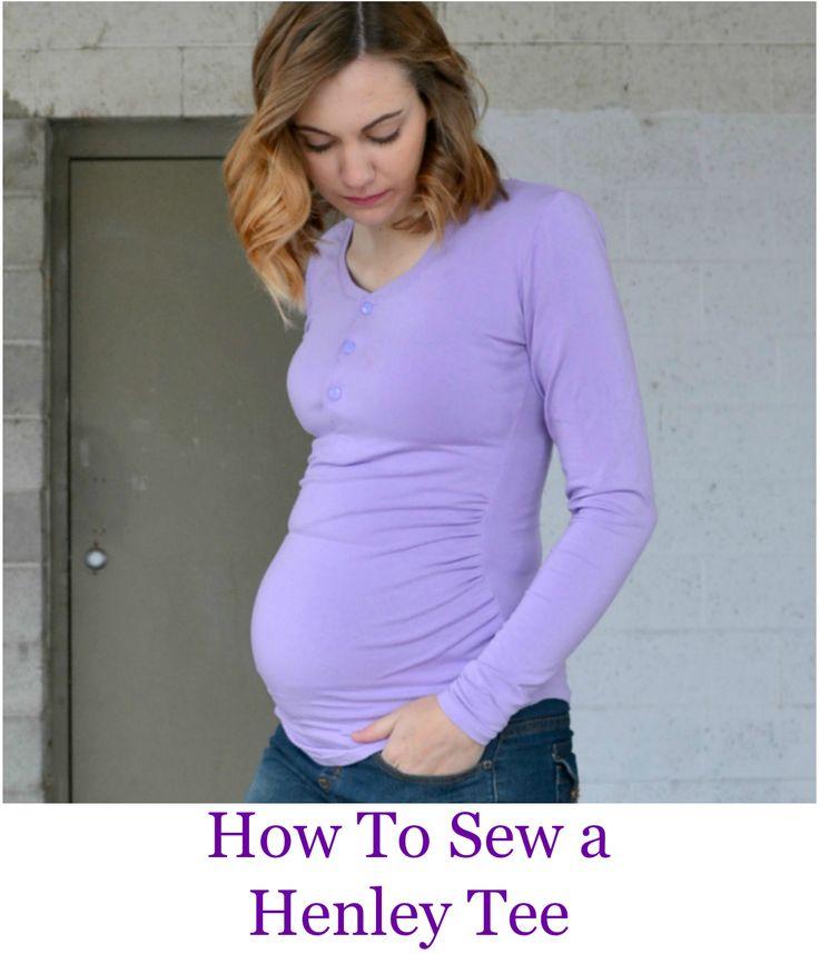 Henley Tee Tutorial // Cara Maternity Tshirt Alteration | DIY maternity