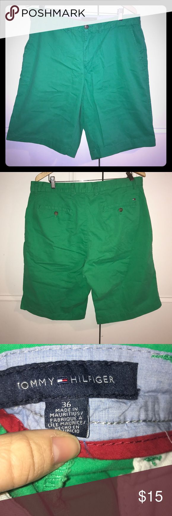 Tommy Hilfiger green chino shorts Tommy Hilfiger green chino shorts Tommy Hilfiger Shorts Flat Front