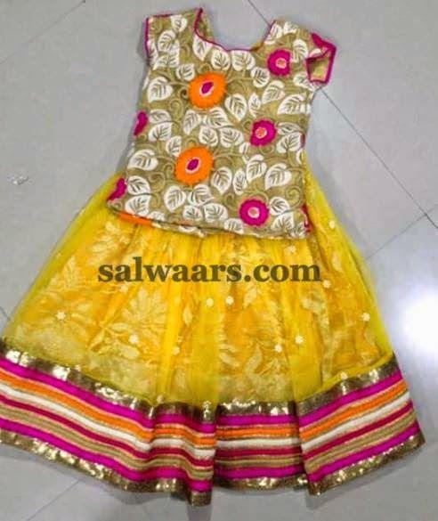 Floral Theme Kids Blouse - Indian Dresses