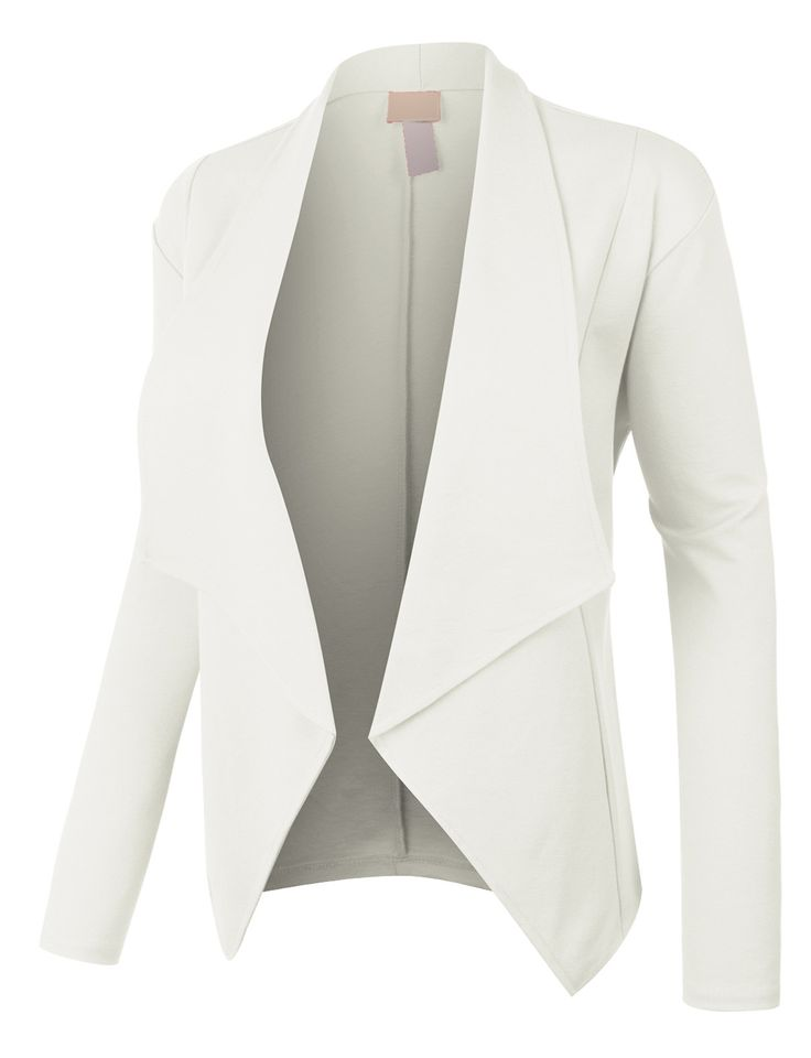 LE3NO Womens Open Front Long Sleeve Tuxedo Blazer Jacket