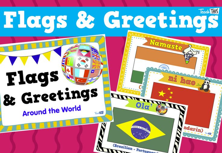 Flags & Greetings - Posters