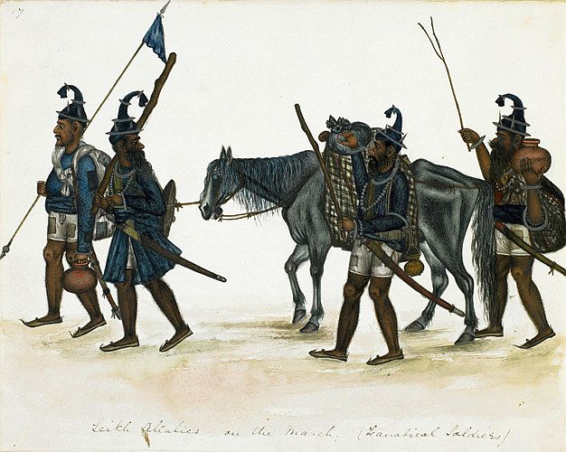 Akali Sikhs on the March, 1850.