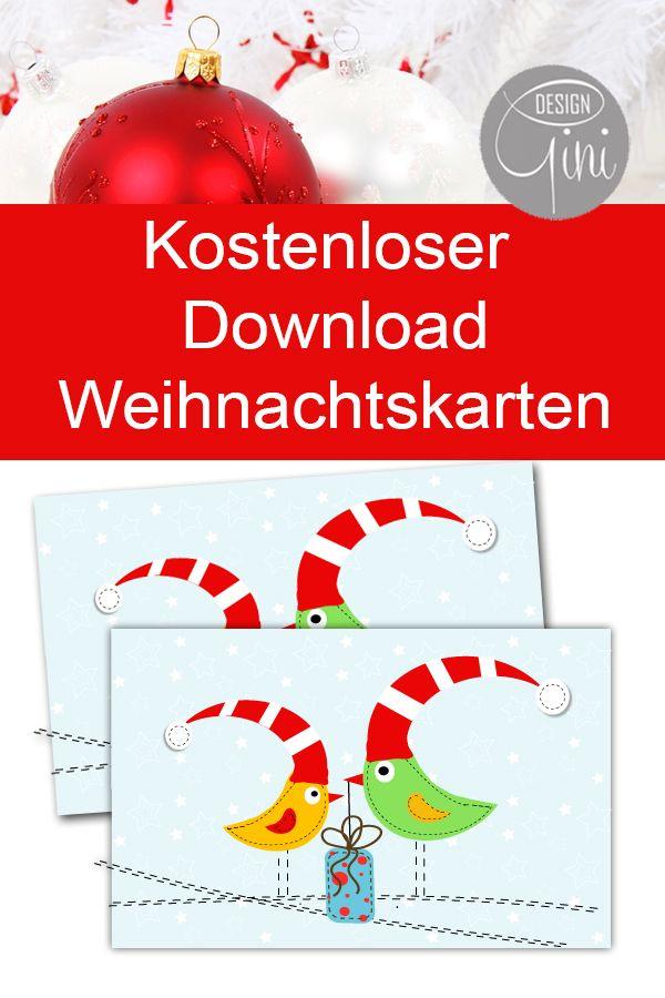 Karte weihnachten ausdrucken