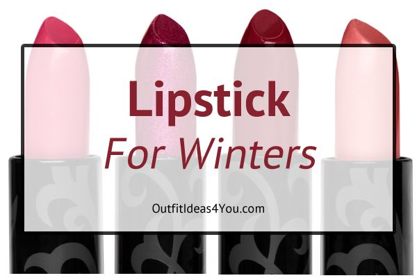 Lipstick in winter colors. I've selected lipstick in the colors from the winter seasonal color palette. Pure winter, tinted winter, toned winter, and shaded winter.