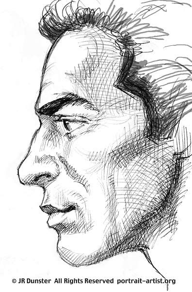 how to draw a man from the side