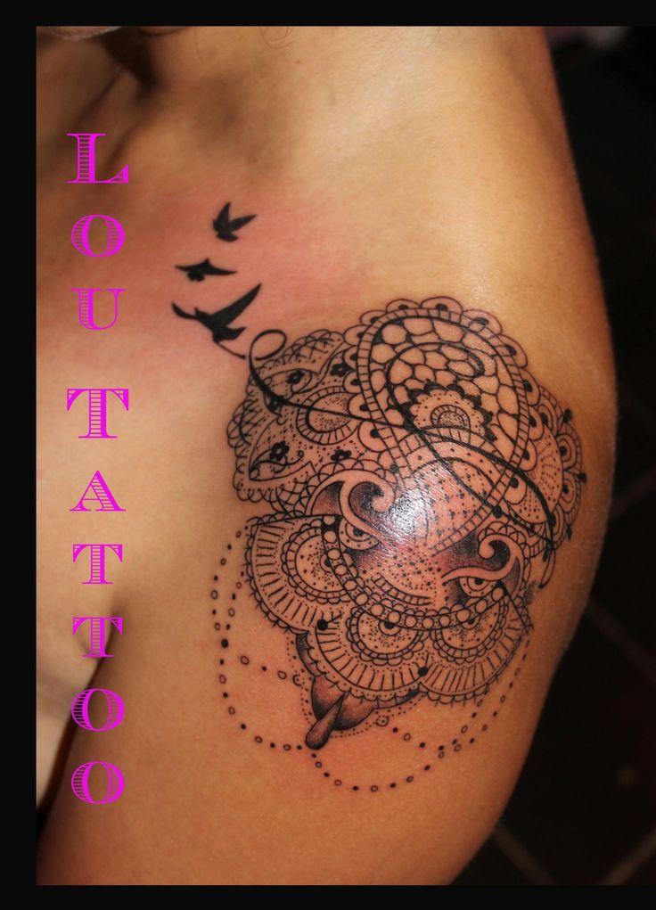 Les 25 meilleures id es de la cat gorie tatouages rose en dentelle que vous aimerez sur pinterest - Rose en tatouage ...