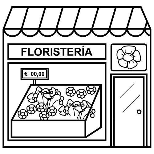 Menta Más Chocolate - RECURSOS PARA EDUCACIÓN INFANTIL: Dibujos de TIENDAS y EDIFICIOS
