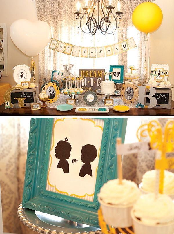 gender reveal party ideas | Tricycle Inspired Gender Reveal Party, love the colors.