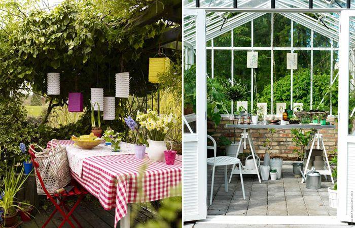 Садовый уголок и садовый домик