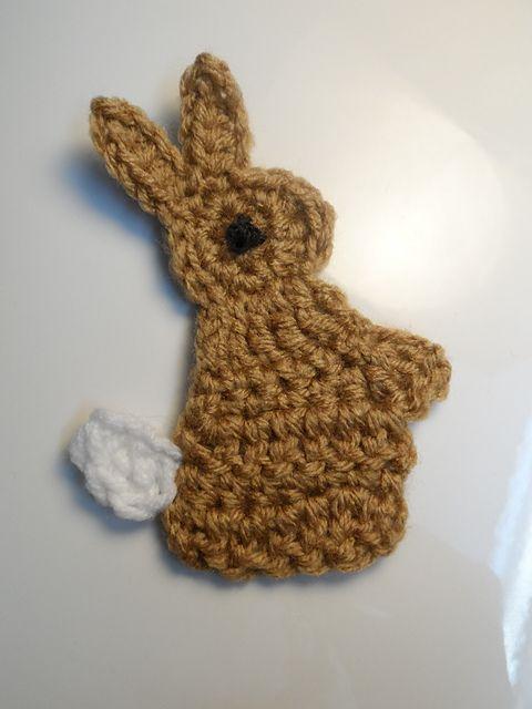 Ravelry: Crochet Rabbit/Bunny Applique pattern by MiniShu Boutique