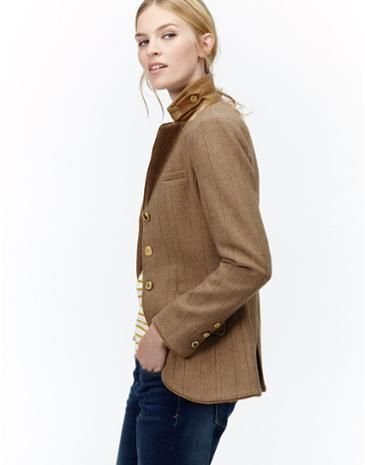 Make a statement in this smart single breasted jacket in Cropston Tweed from Joules.