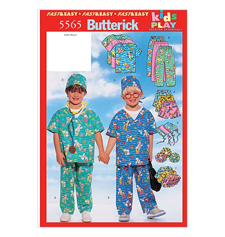 Butterick B5565 Kids Scrubs Pattern 8 95 Sewing