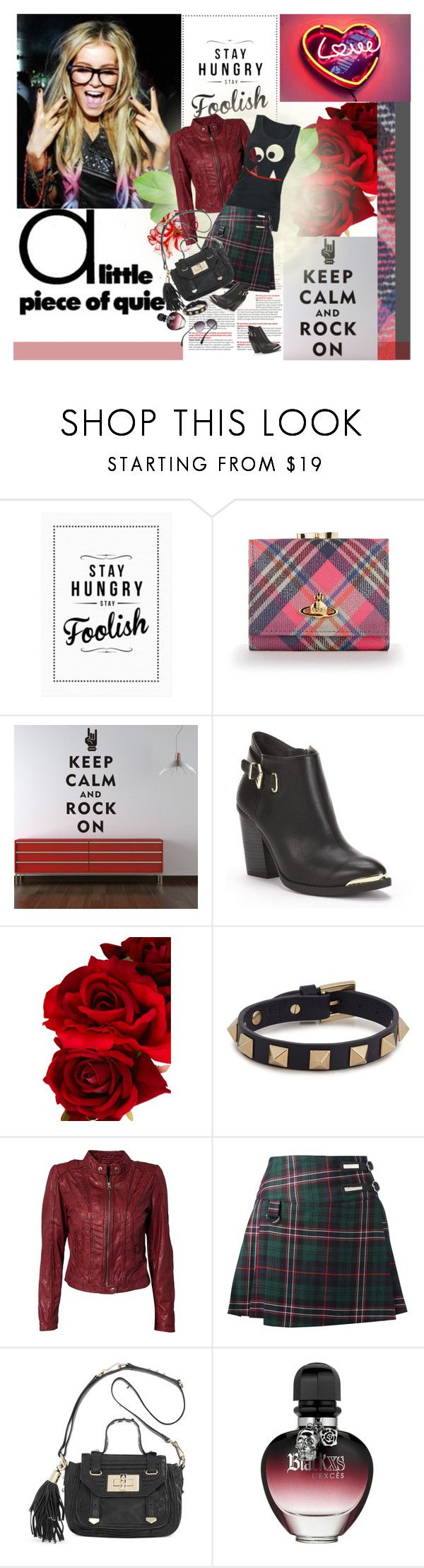 """""""Happy day!"""" by vkmd ❤ liked on Polyvore featuring WallStar Graphics, Rock & Republic, Rock 'N Rose, Valentino, Rock'N Blue, Dondup, Juicy Couture, Paco Rabanne and Paul Smith"""