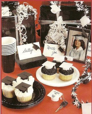 Your graduate will take center stage with these shrink plastic graduation decorations.  graduation cupcake decorations