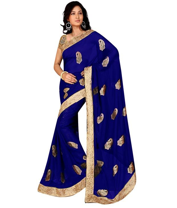 Loved it: Vishal Saree Blue Faux Chiffon Saree, http://www.snapdeal.com/product/designer-blue-saree-with-pink/92492071
