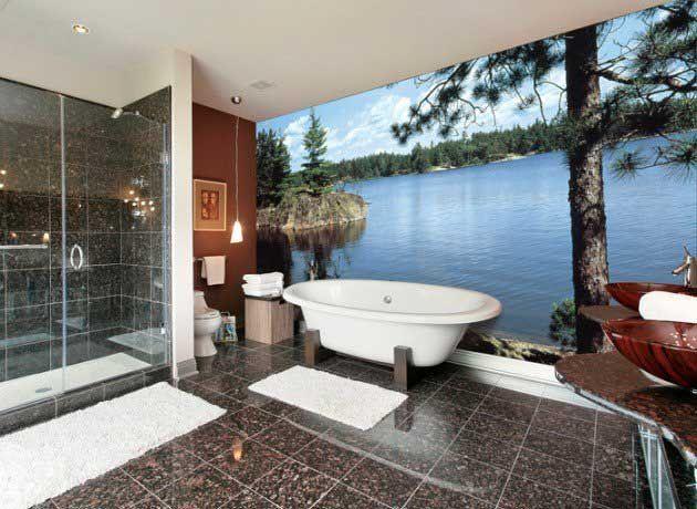 Survivor Air In Bathrooms Mural Design Bathroom Wall Mural House Design