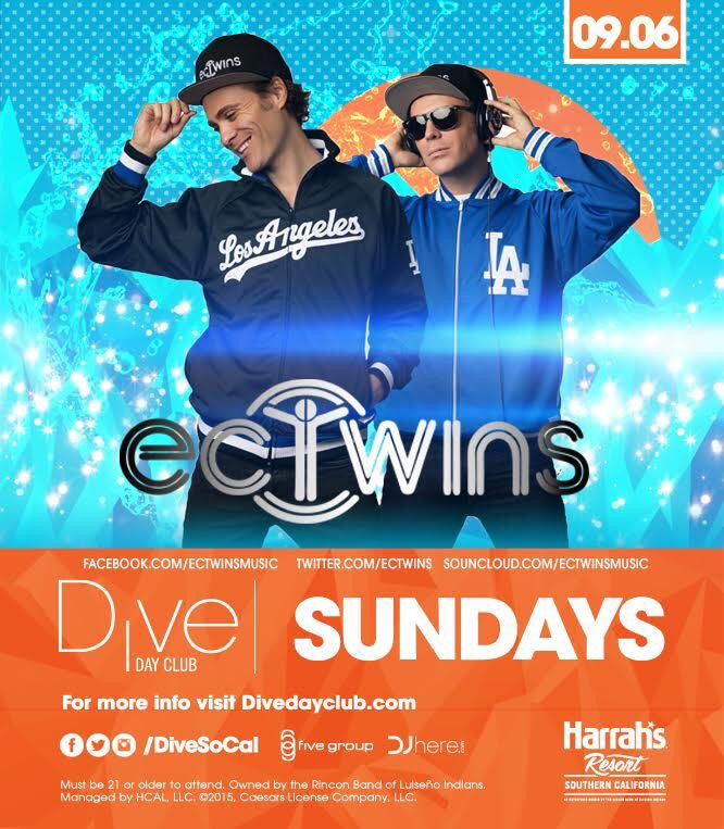 """EC TWINS Harrahs Dive Day Club Ticket Promo Codes Party Buses Vip 10%OFF DISCOUNT ON HARRAHS DIVE TICKETS PROMO Dive  Promo Code ANYTIME """"nocturnalsd"""" 10%OFF -LINK https://www.dayclubtickets.com/affiliate/nocturnal1  #ectwins #divedayclub #harrahs #poolparty #memorialday  Neon Nights / Yacht Parties -LINK http://www.diveneonnights.com/ Promo Code """"nocturnalsd"""" 10% OFF  Private Transportation Discounts   LINK Http://Averylimobroker.com Promo Code """"Dive"""" for the 30%"""