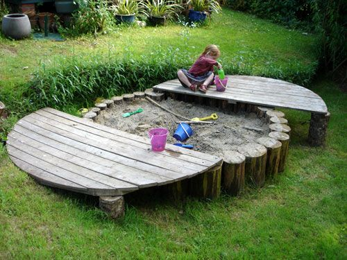 An amazing sandbox for the kids...Playground Build & Design | Natural Child Play | Earth Wrights Ltd