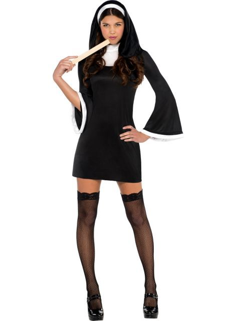 Adult Blessed Babe Nun Costume - Party City