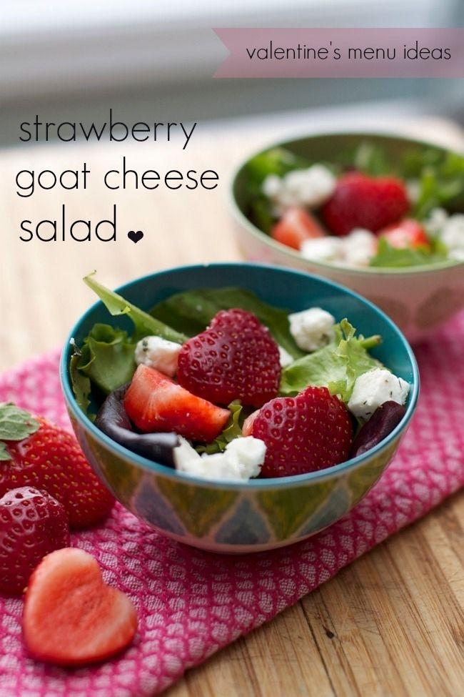 valentines day menu ideas strawberry goat cheese salad - Valentine Day Menu Ideas
