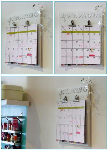 Homemade Calendar Ideas : Best calendars handmade images on pinterest calendar