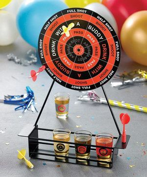Improve on a cheap dart board to make a great drinking game gift