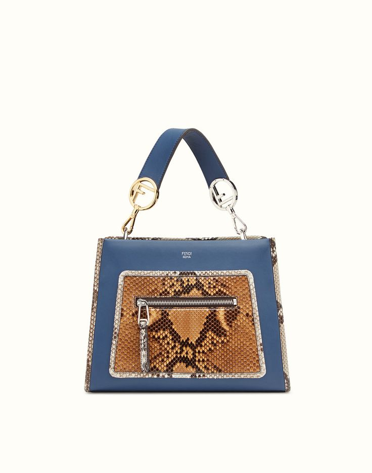 08d3a1de94 ... where can i buy fendi runaway small exotic blue leather bag view 1  detail 6e93a 7a968 ...