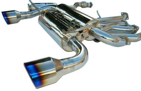 Invidia 2009-2012 Infiniti FX35 Base V6 3.5L Gemini Rolled Stainless Steel Tip Cat-back Exhaust System