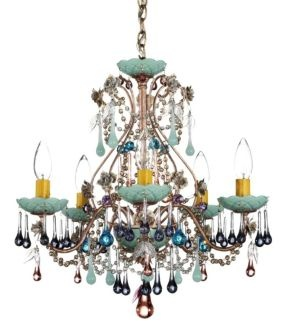 $600 - Dining Room - Schonbek Rose Mint Julep Crystal Chandelier | LampsPlus.com