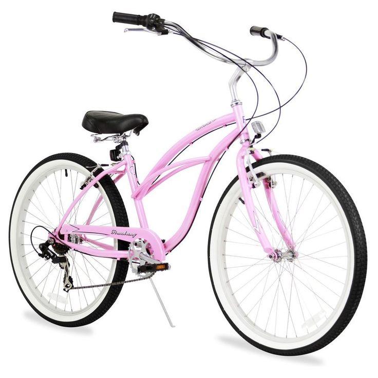 """26"""" Firmstrong Urban Lady Seven Speed Women's Beach Cruiser Bike,"""