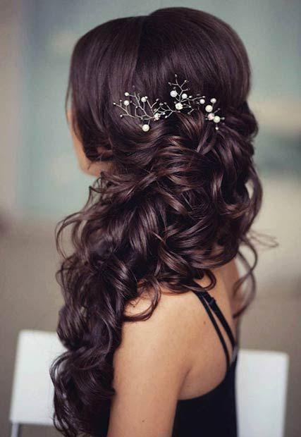 Side Prom Frisuren für langes Haar