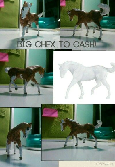 Hey guys! I just painted another model horse, and I painted Big Chex to Cash! What do y'all think? Art by Lauren Denard 11/1/15