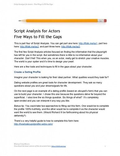 50 best Theatre- Script\/Character Analysis images on Pinterest - character analysis template