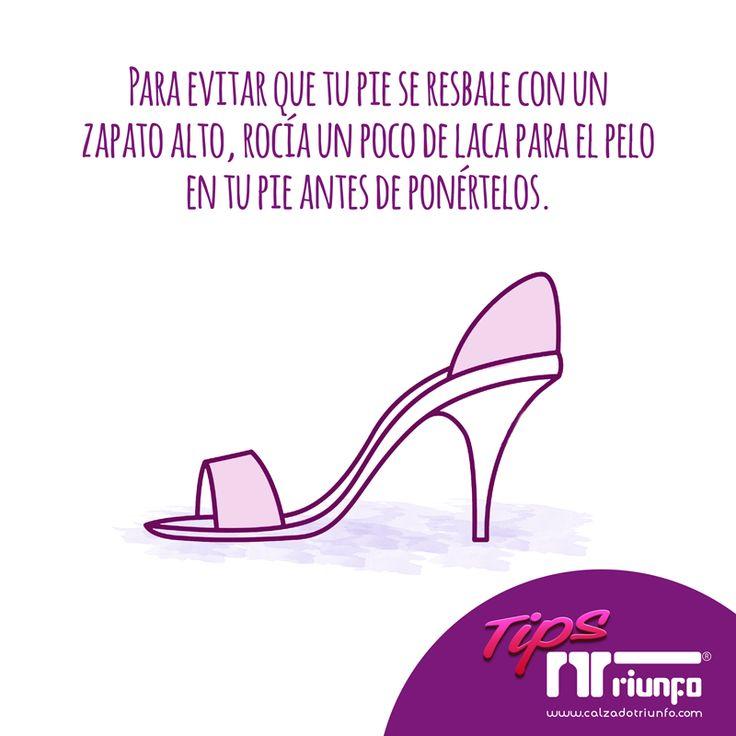 Un tip para evitar que tus pies se resbalen cuando te pones zapatos altos. #tipszapatos #tipscalzadotriunfo #EnviosinCosto #CalzadoTriunfo