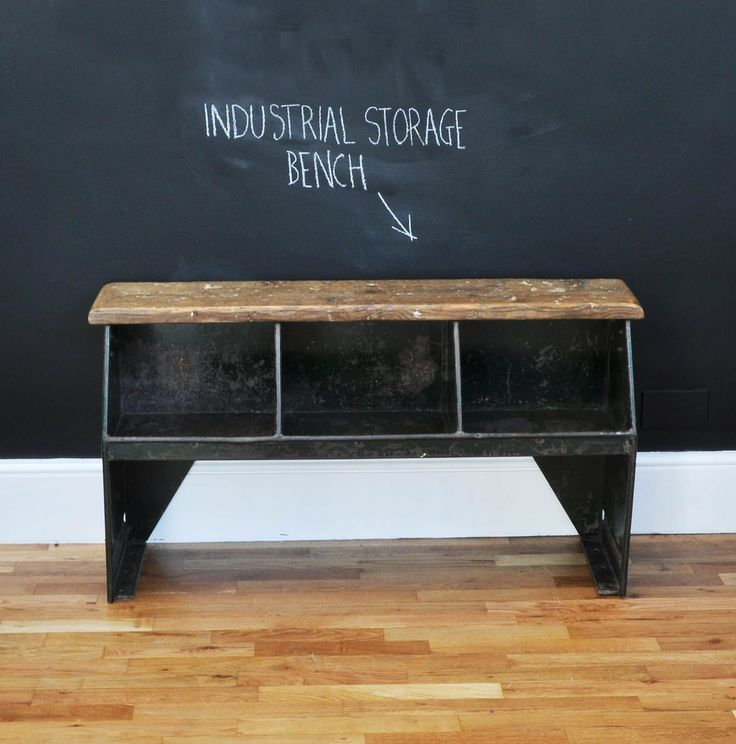 Vintage Boot-room Storage Bench - Bring It On Home