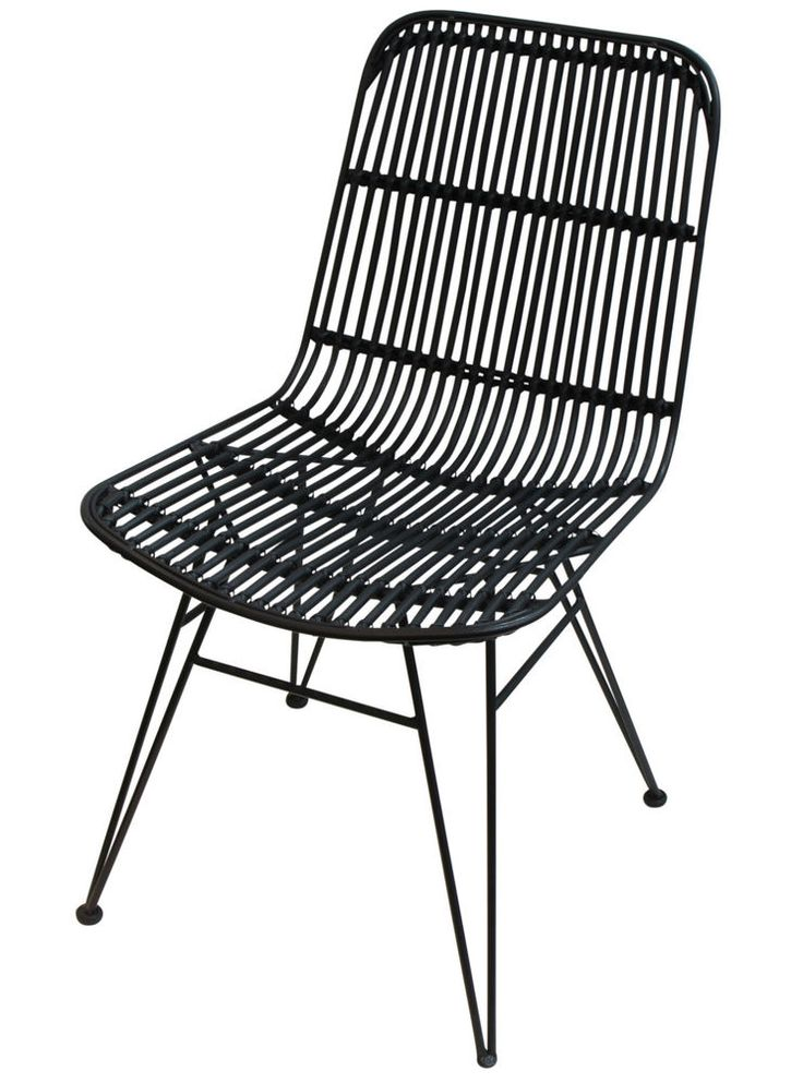 'French Country Collections' NEW Vertice Black Chair - RRP $415.00