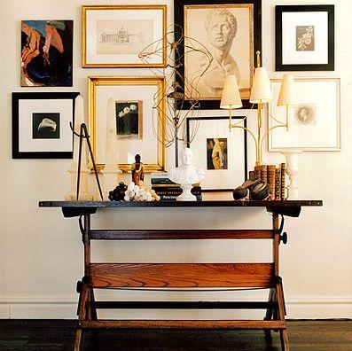 arrangement of art/prints