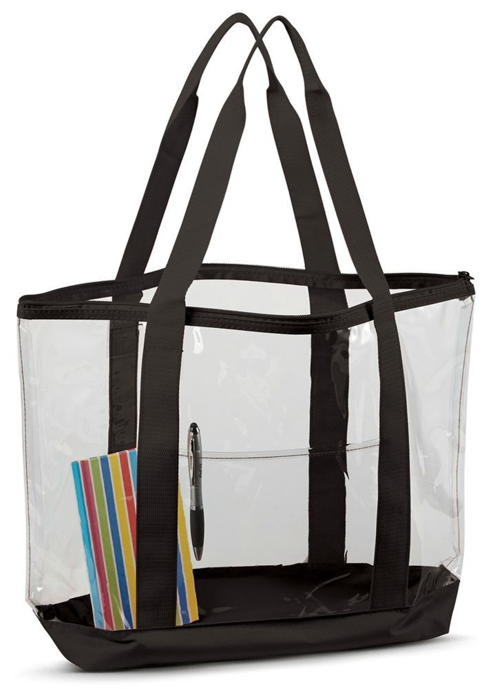 Clear Work Tote Shoulder Summer Beach Bag Purse Security Transparent See Through