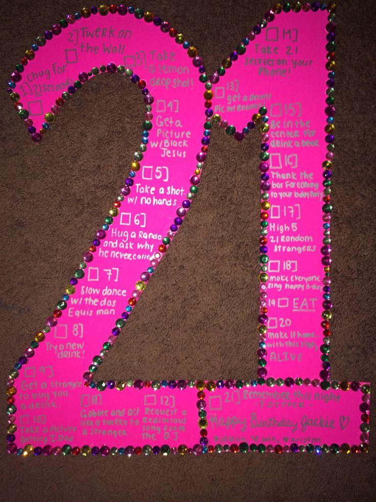21st Birthday Checklist Pinterestte 21 doum gn iaretleri