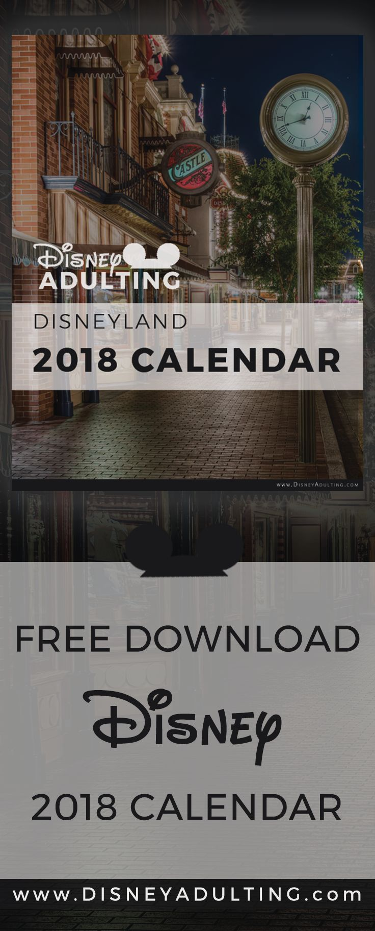 """2018 Disney Calendar (Free Download) 