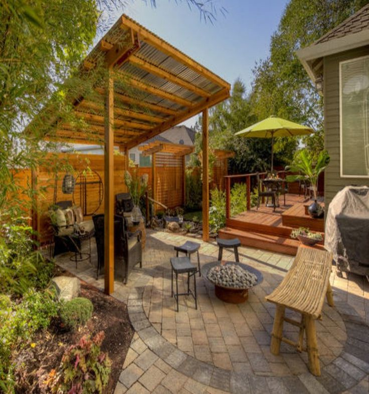 Metal Roof for Pergola Options Backyard shade, Backyard