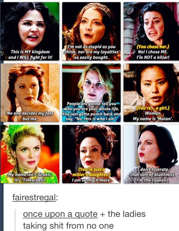 The women of Once Upon a Time...