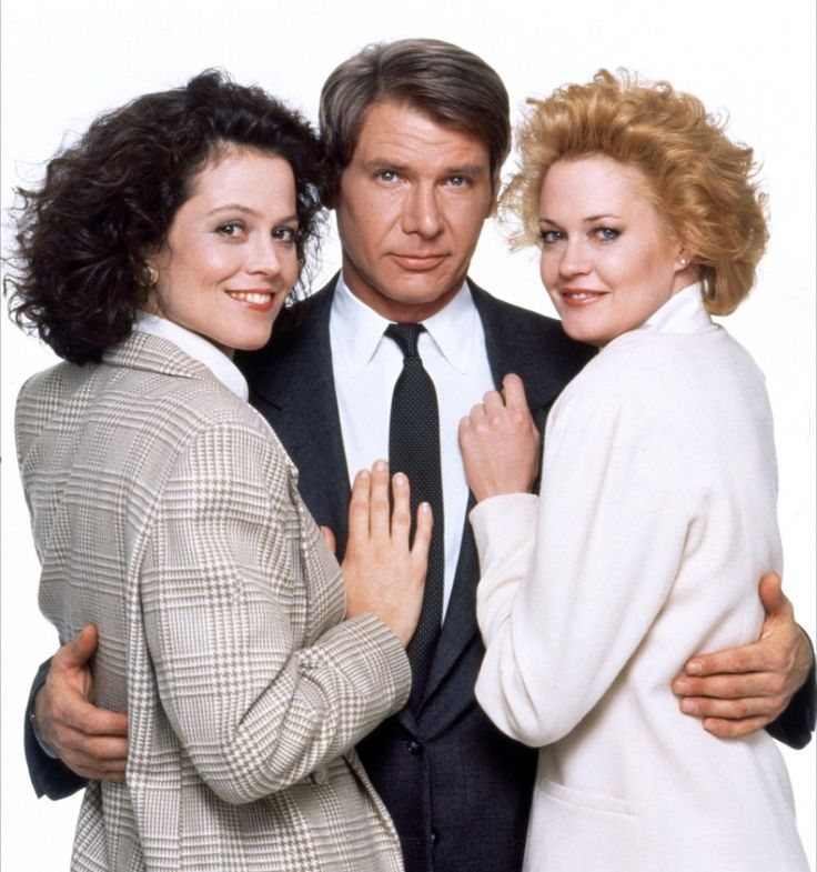 "Harrison Ford with Sigourney Weaver  Melanie Griffith in ""Working Girl"" (1988); loved this movie."