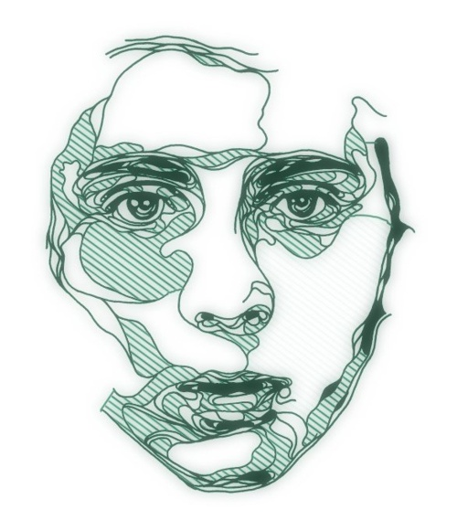 Continuous Line Drawing Of Face : Best images about continuous contour line portraits on