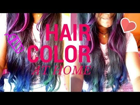 How to use hair chalk | haircolor at home